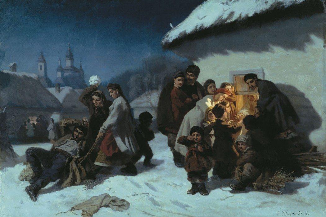 Konstantin Trutovsky - Christmas Caroling in the Ukraine