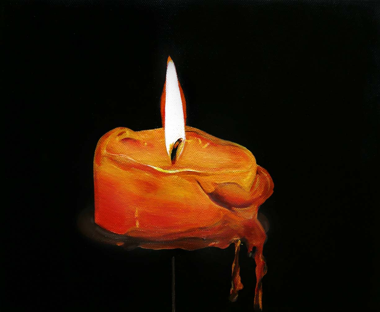 How To Paint A Candle With Acrylic